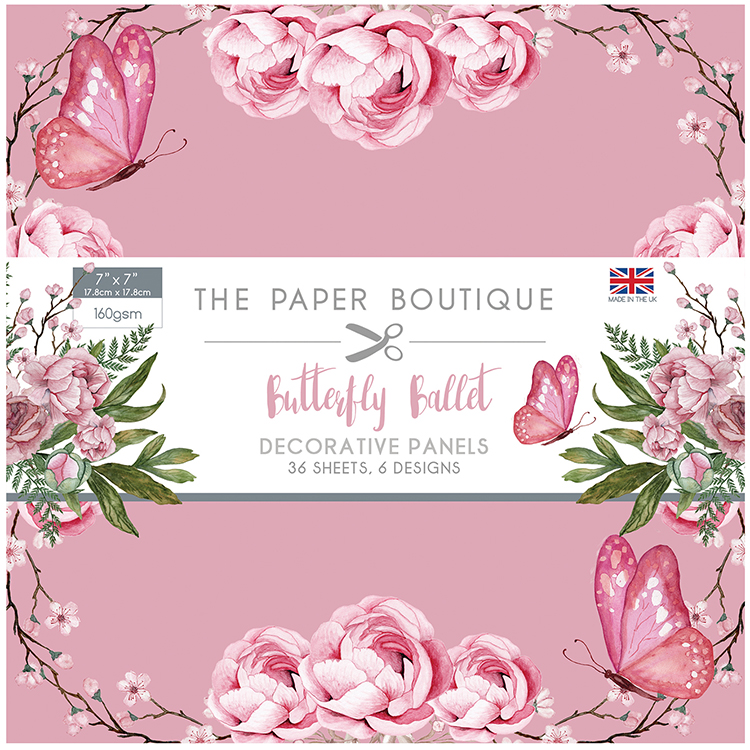 The Paper Boutique Butterfly Ballet 7″ x 7″ Paper Pad