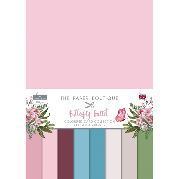 The Paper Boutique Butterfly Ballet Coloured Card Collection