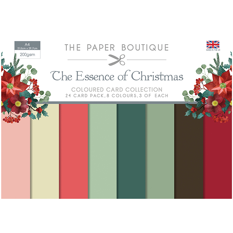 The Paper Boutique The Essence of Christmas Coloured Card