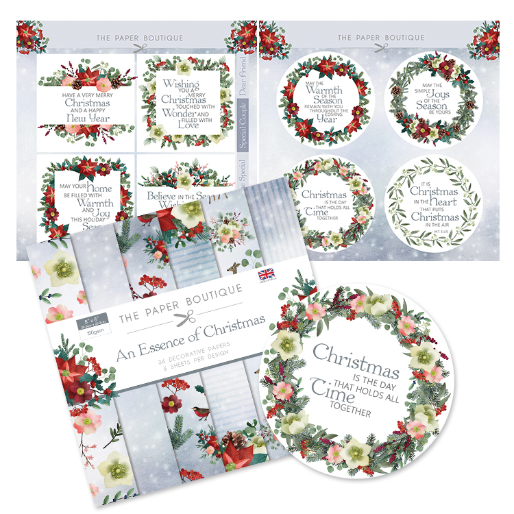 The Paper Boutique The Essence of Christmas Paper Kit