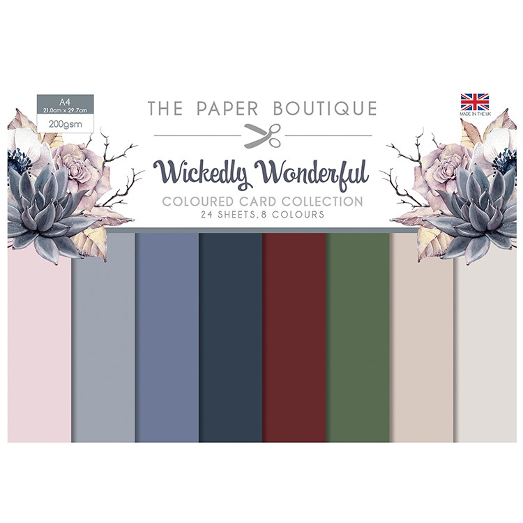 The Paper Boutique Wickedly Wonderful Coloured Card Collection