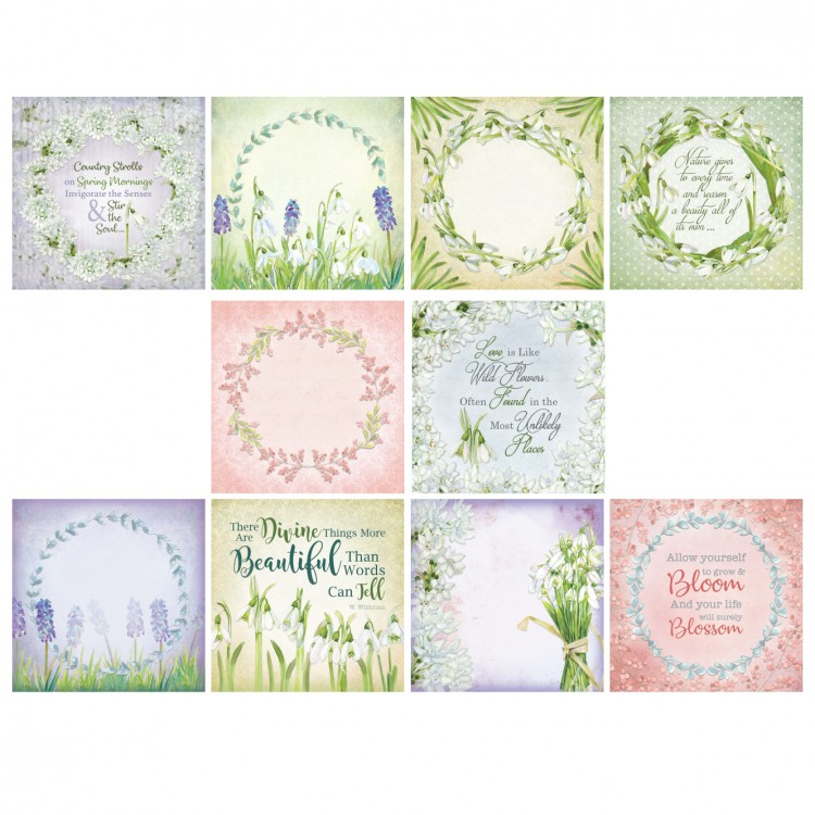 The Paper Boutique Country Stroll 5″ x 5″ Scene & Sentiment Topper Pad