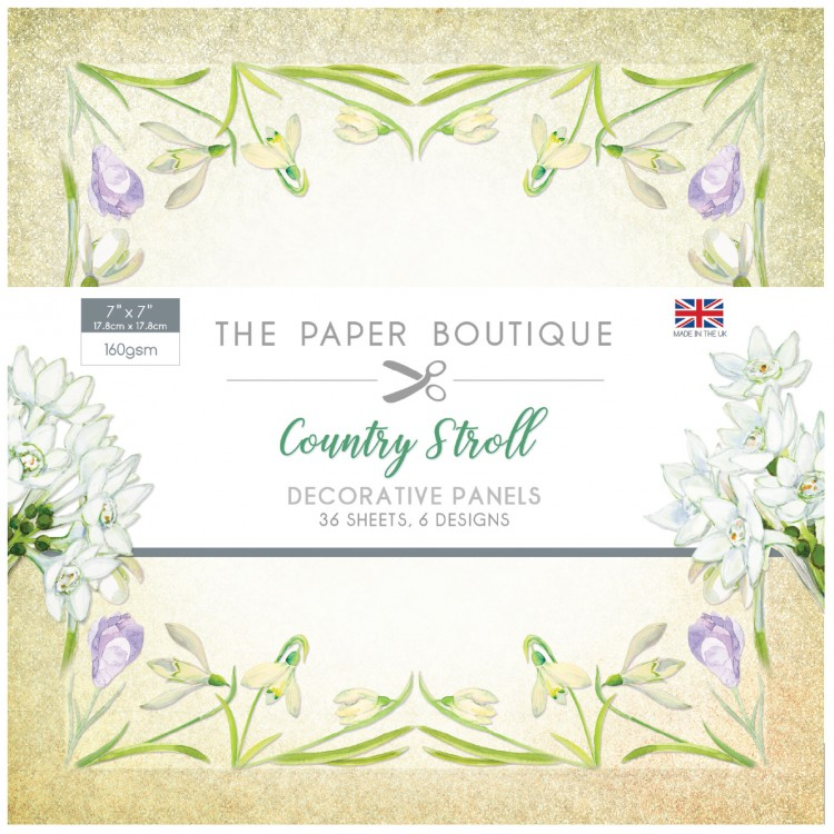 The Paper Boutique Country Stroll 7″ x 7″ Decorative Panel Pad