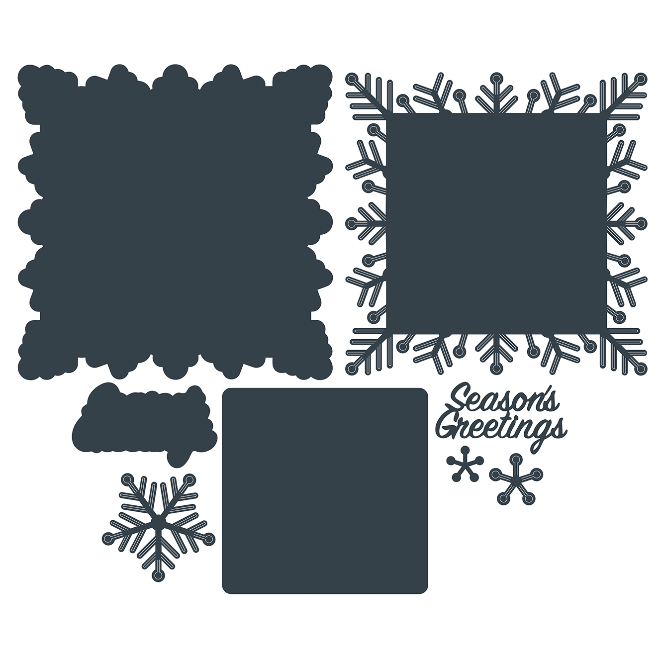 The Paper Boutique A Sprinkle of Winter – Season's Greetings Cutting Die