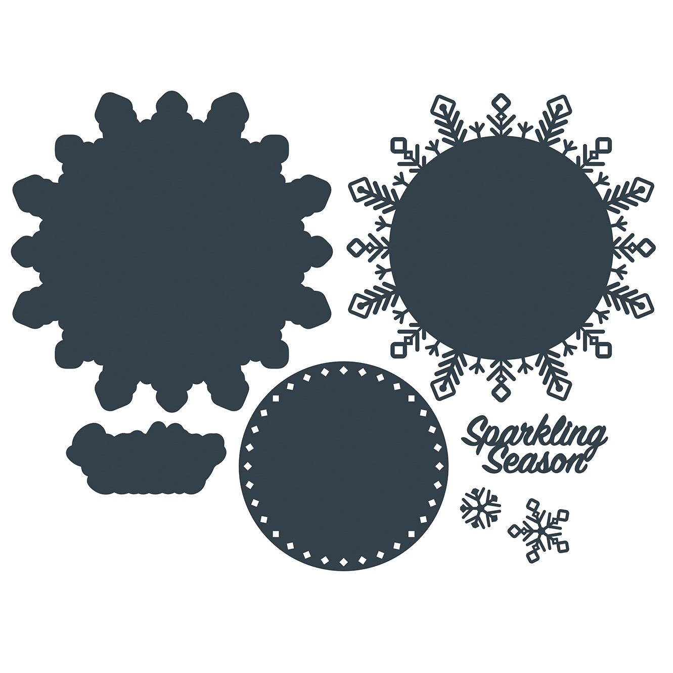 The Paper Boutique A Sprinkle of Winter – Sparkling Season Cutting Die