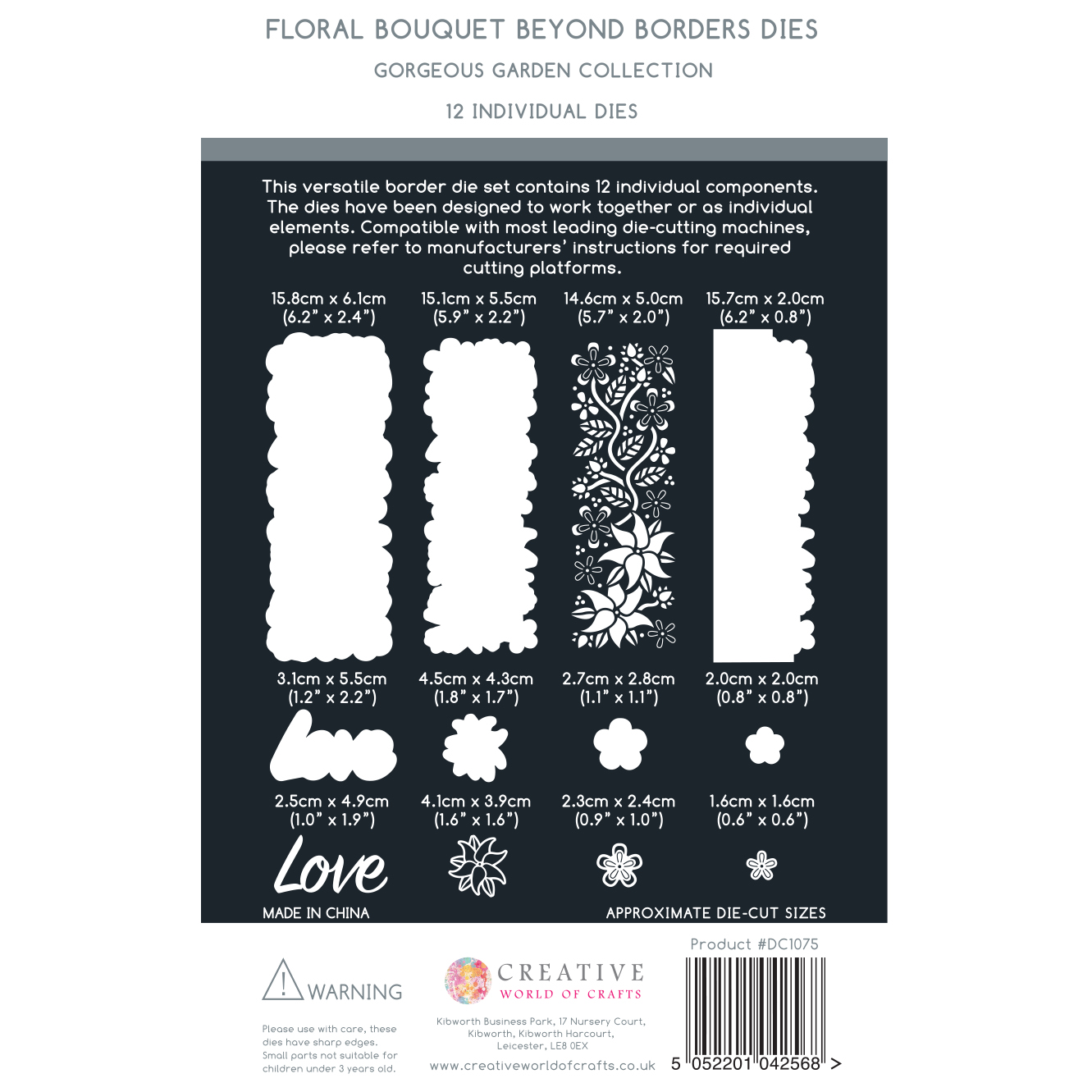 The Paper Boutique Gorgeous Garden Beyond Borders – Floral Bouquet Cutting Die