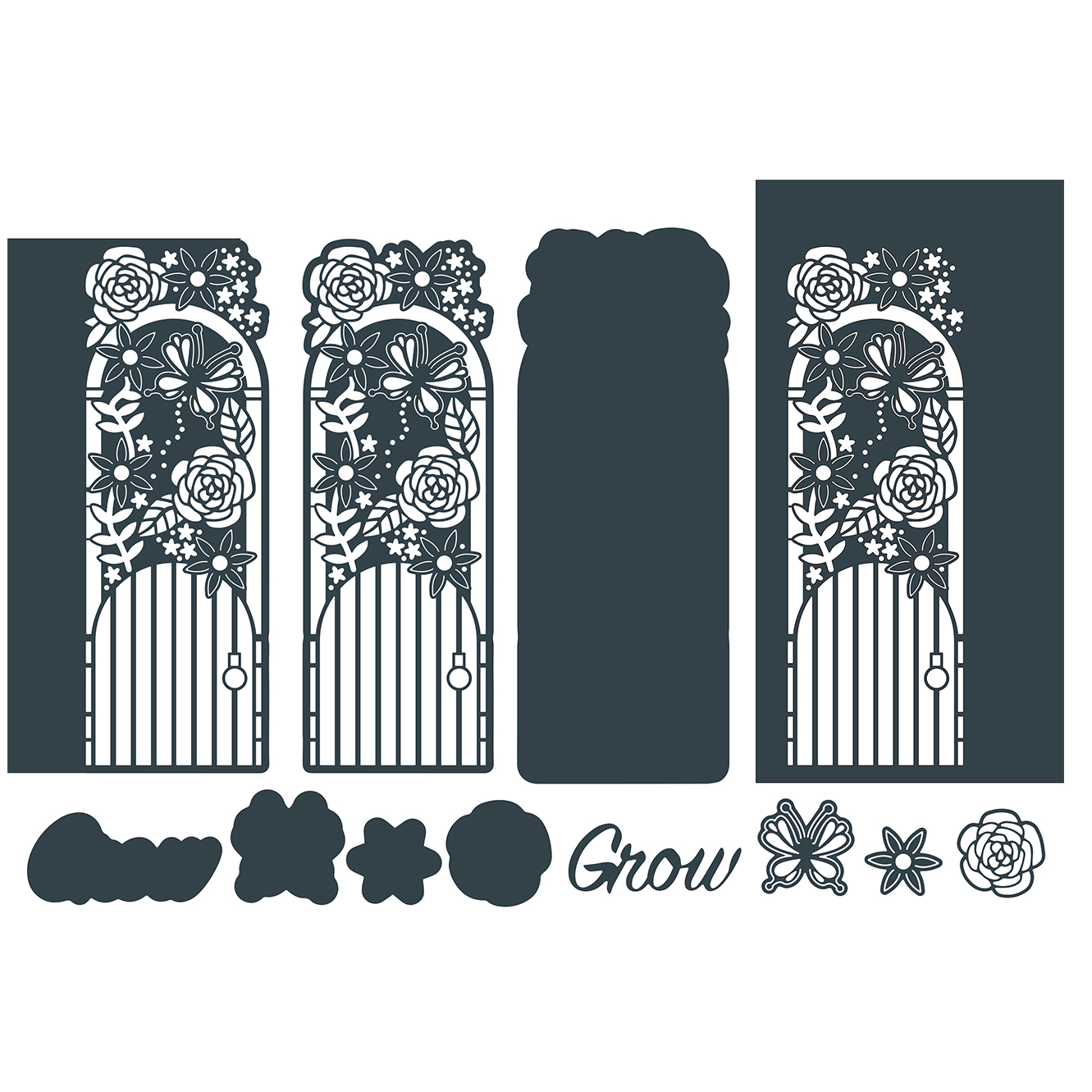 The Paper Boutique Gorgeous Garden Beyond Borders – Garden Gate Cutting Die