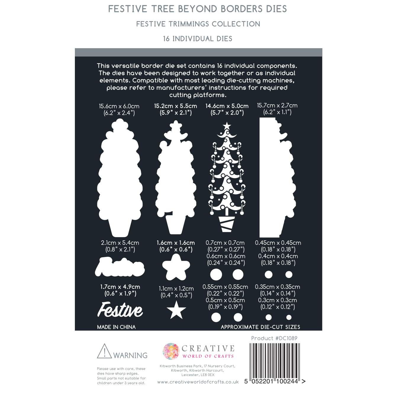 The Paper Boutique Festive Trimmings Beyond Borders – Festive Tree Cutting Die