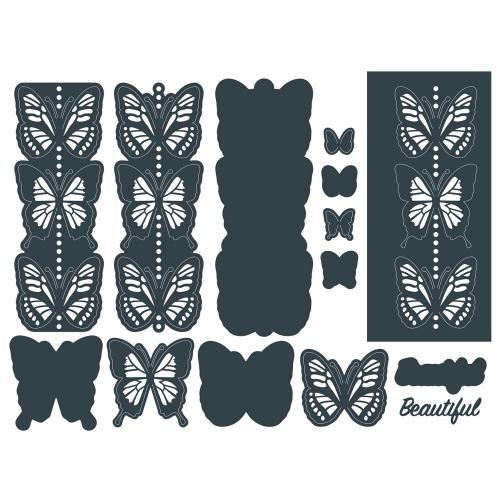 The Paper Boutique Blissful Butterflies Beyond Borders Cutting Die – Beautiful