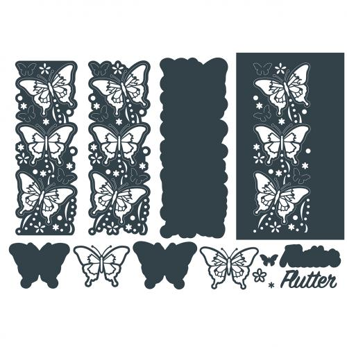 The Paper Boutique Blissful Butterflies Beyond Borders Cutting Die – Flutter