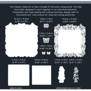 The Paper Boutique Floral Butterflies – Be All You Can Be Doily Die & Sentiment Collection