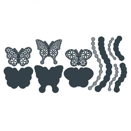 The Paper Boutique Floral Butterflies – Floral Butterflies Embellishments Die Collection