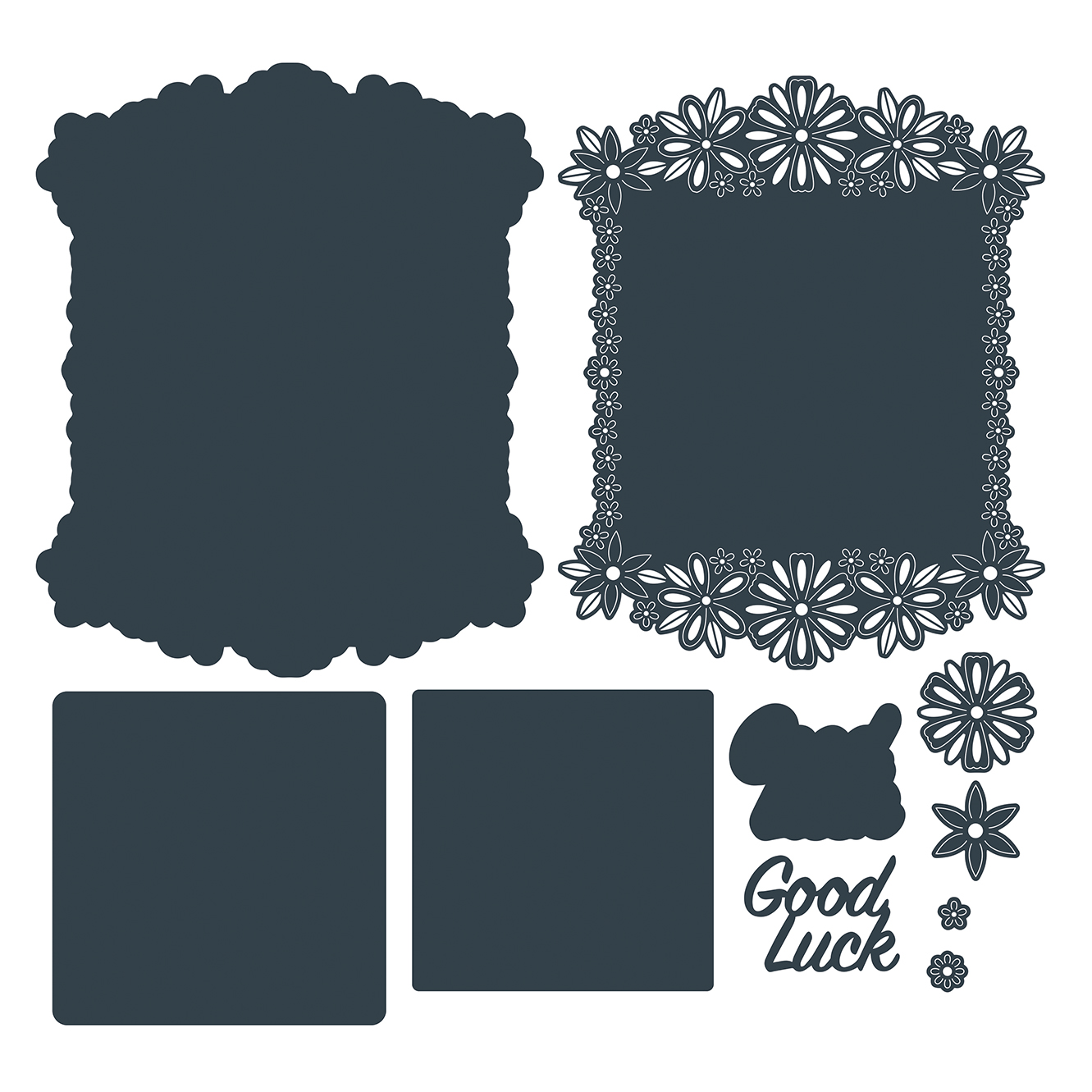 The Paper Boutique Flower Garden – Good Luck Cutting Dies