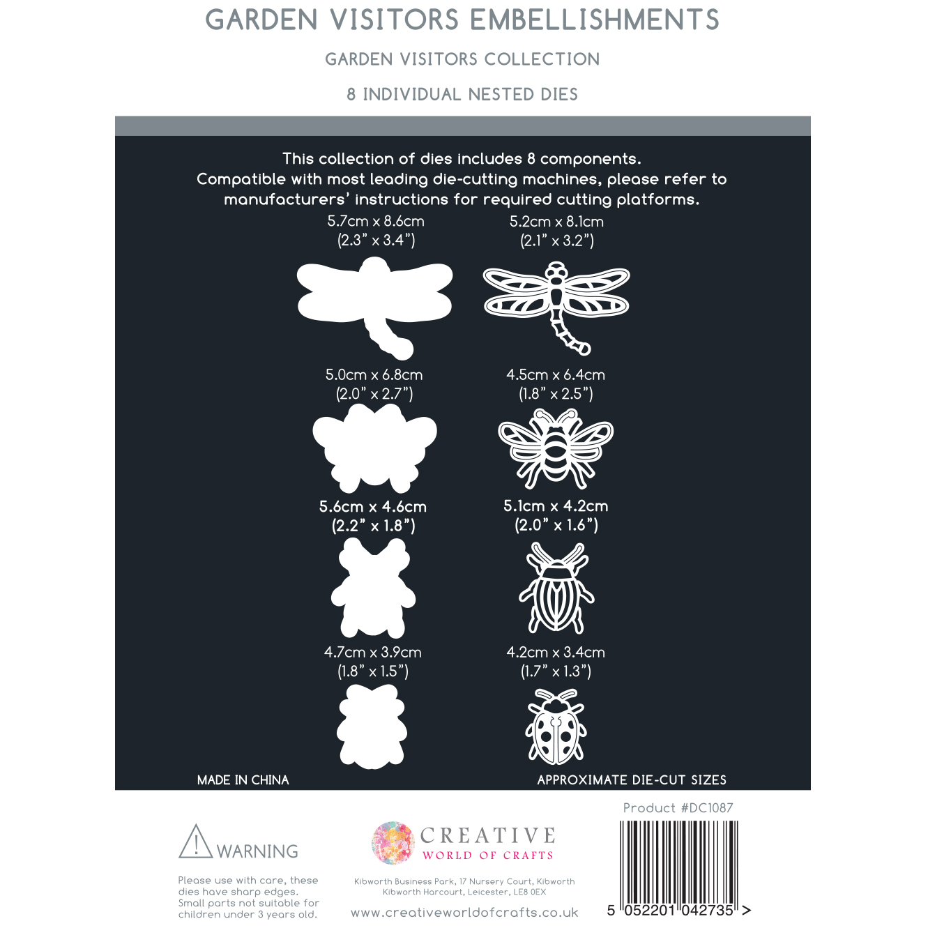 The Paper Boutique Garden Visitors – Embellishments Die Collection