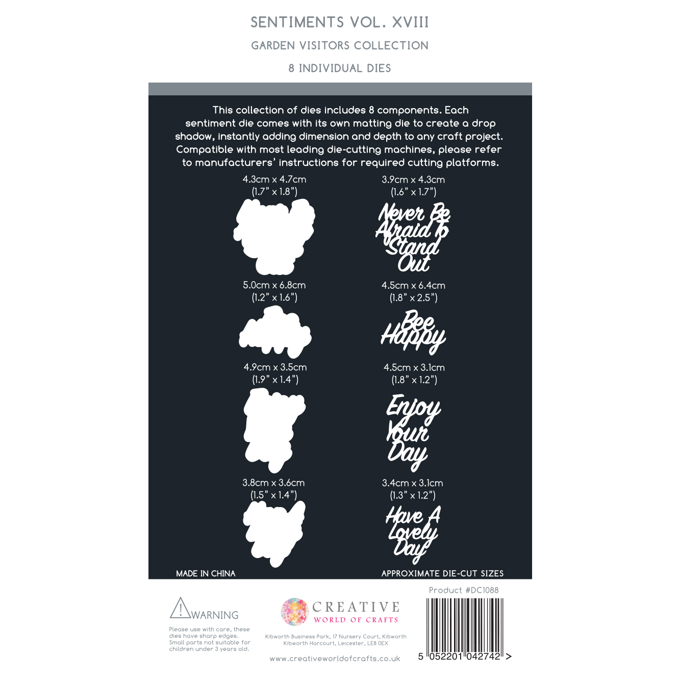 The Paper Boutique Garden Visitors – Sentiments Dies Volume XVIII Collection