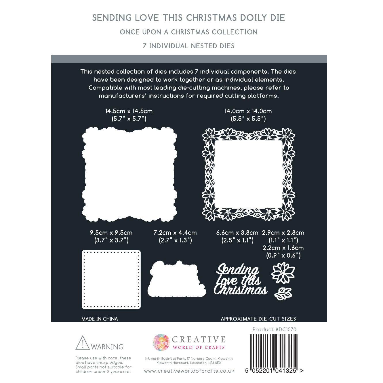 The Paper Boutique Once Upon A Christmas – Sending Love This Christmas Cutting Die