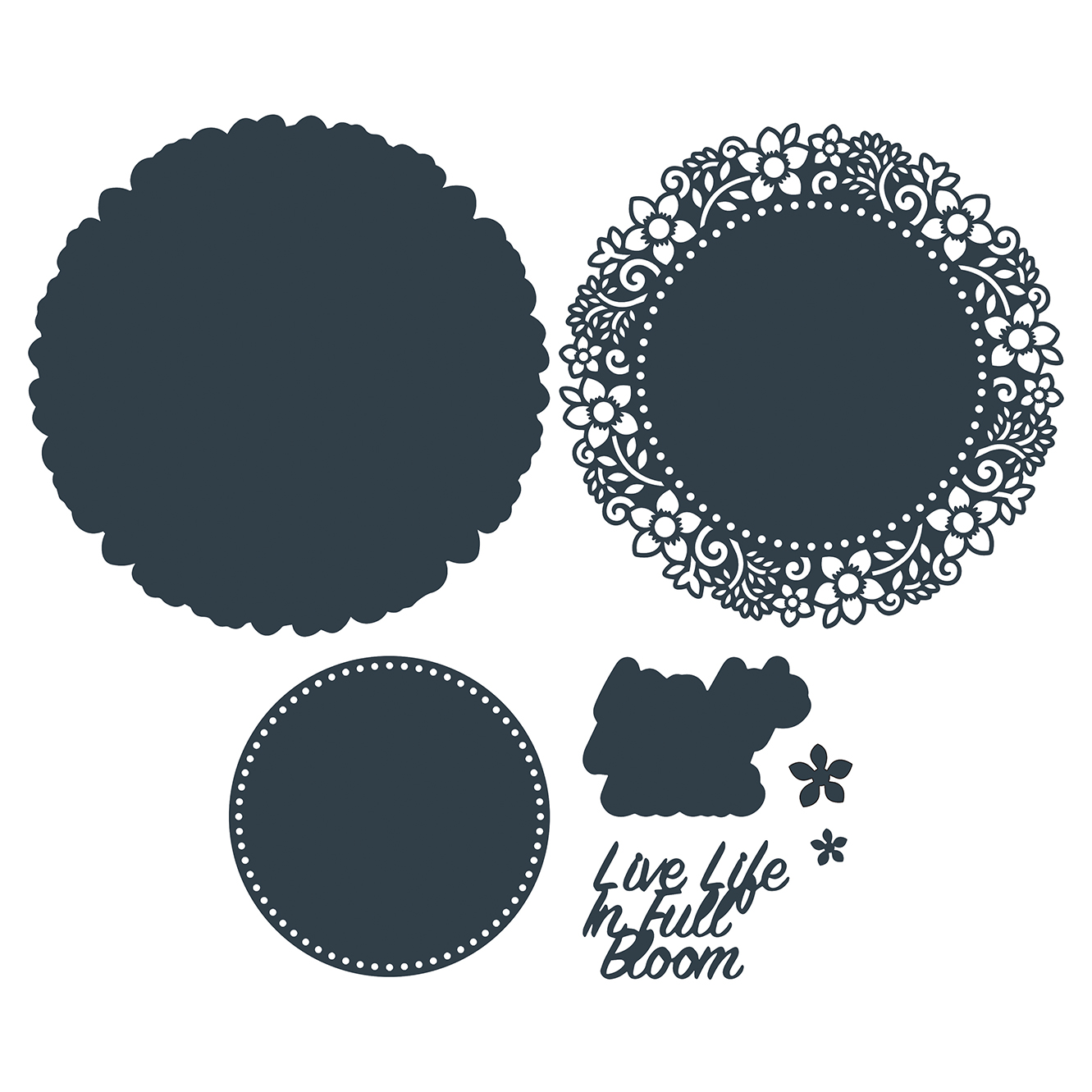 The Paper Boutique Springtime Blooms – Live Life in Full Bloom Cutting Die