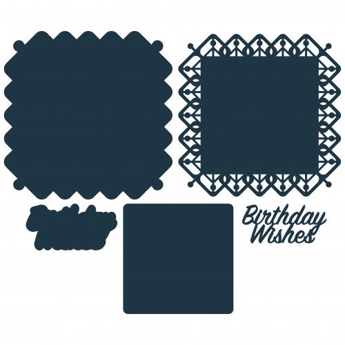 The Paper Boutique Lovely Lattice – Birthday Wishes Cutting Die