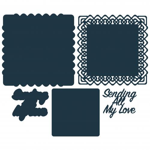 The Paper Boutique Lovely Lattice – Sending All My Love Cutting Die
