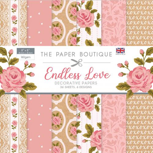 The Paper Boutique Endless Love 8″ x 8″ Paper Pad