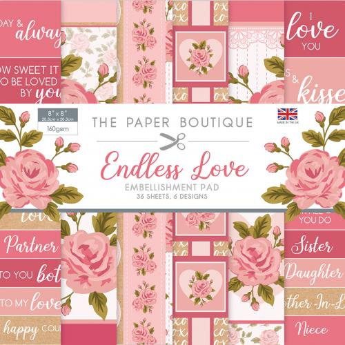 The Paper Boutique Endless Love Embellishment Pad