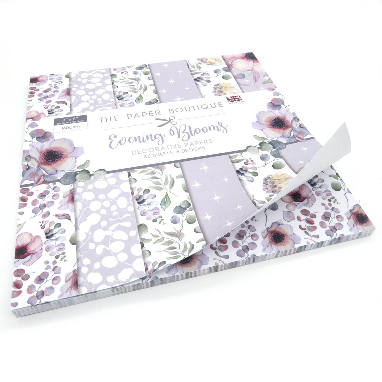 The Paper Boutique Evening Blooms 8″ x 8″ Paper Pad