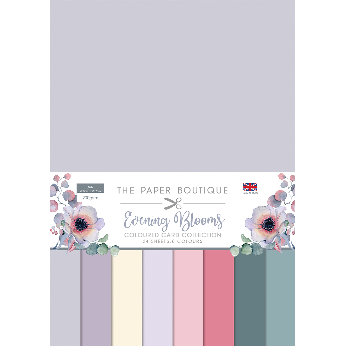 The Paper Boutique Evening Blooms Coloured Card Collection