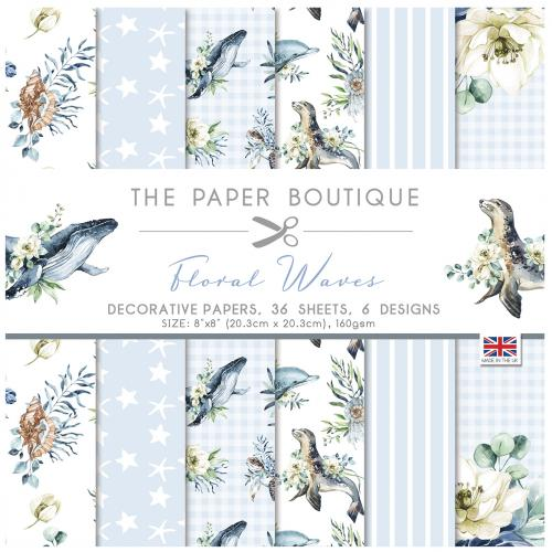 The Paper Boutique Floral Waves 8″ x 8″ Paper Pad