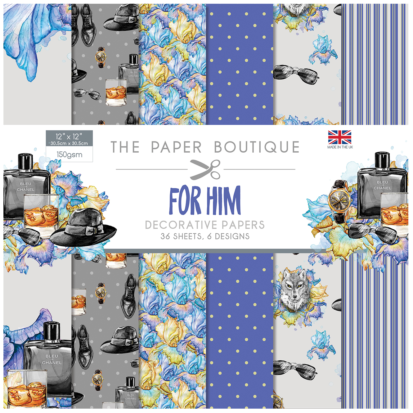 The Paper Boutique For Him 12″ x 12″ Paper Pad