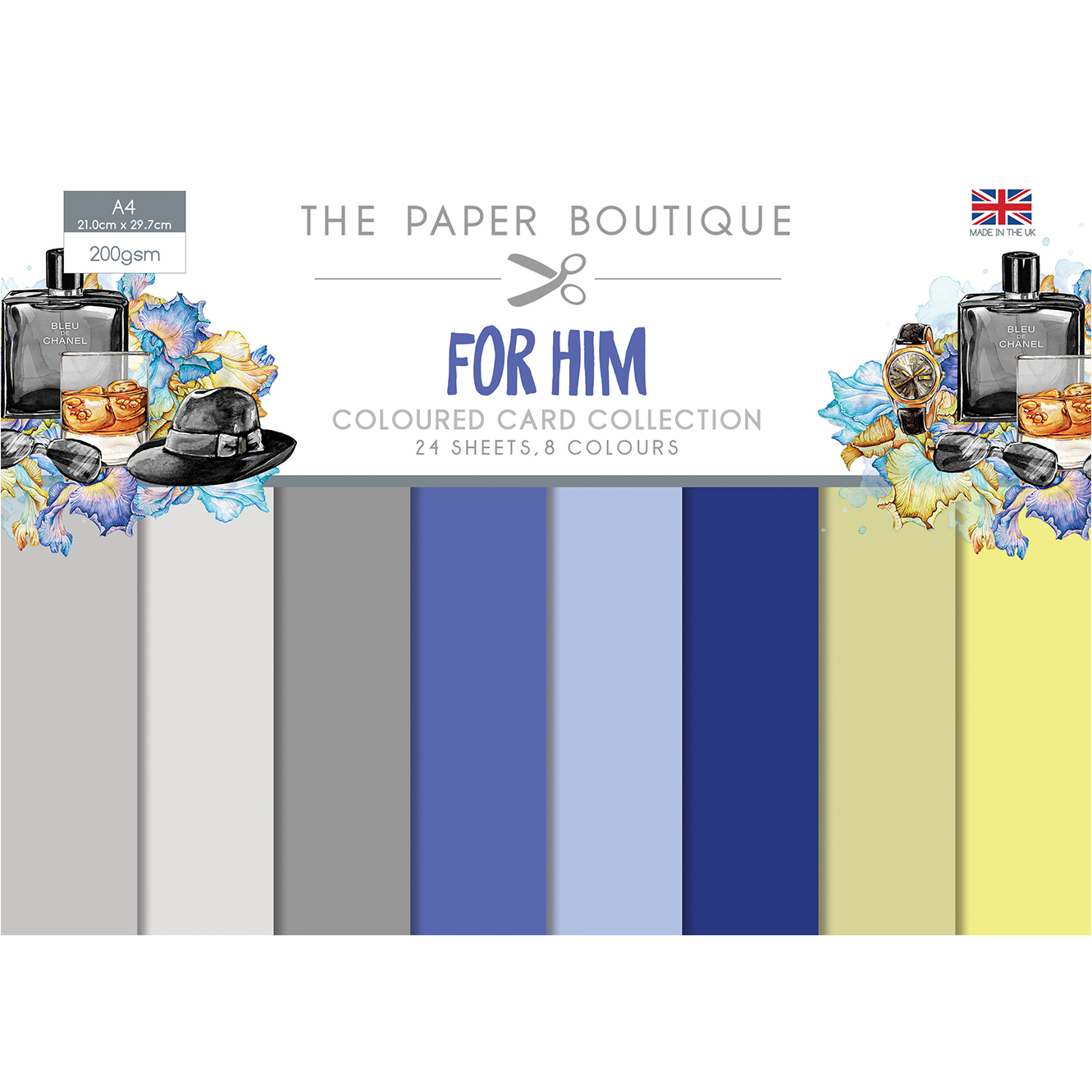 The Paper Boutique For Him Coloured Card Collection