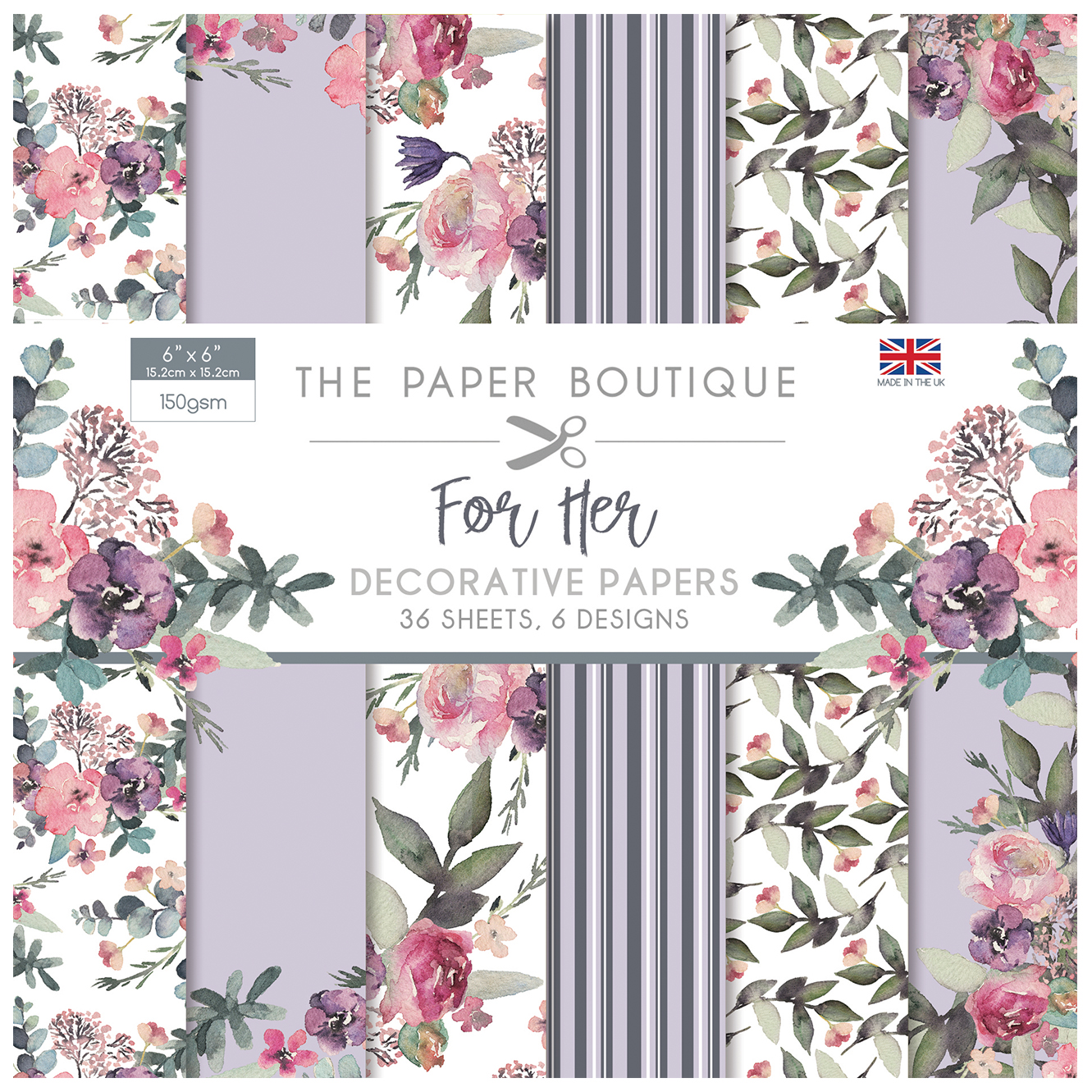 The Paper Boutique For Her 6″ x 6″ Paper Pad