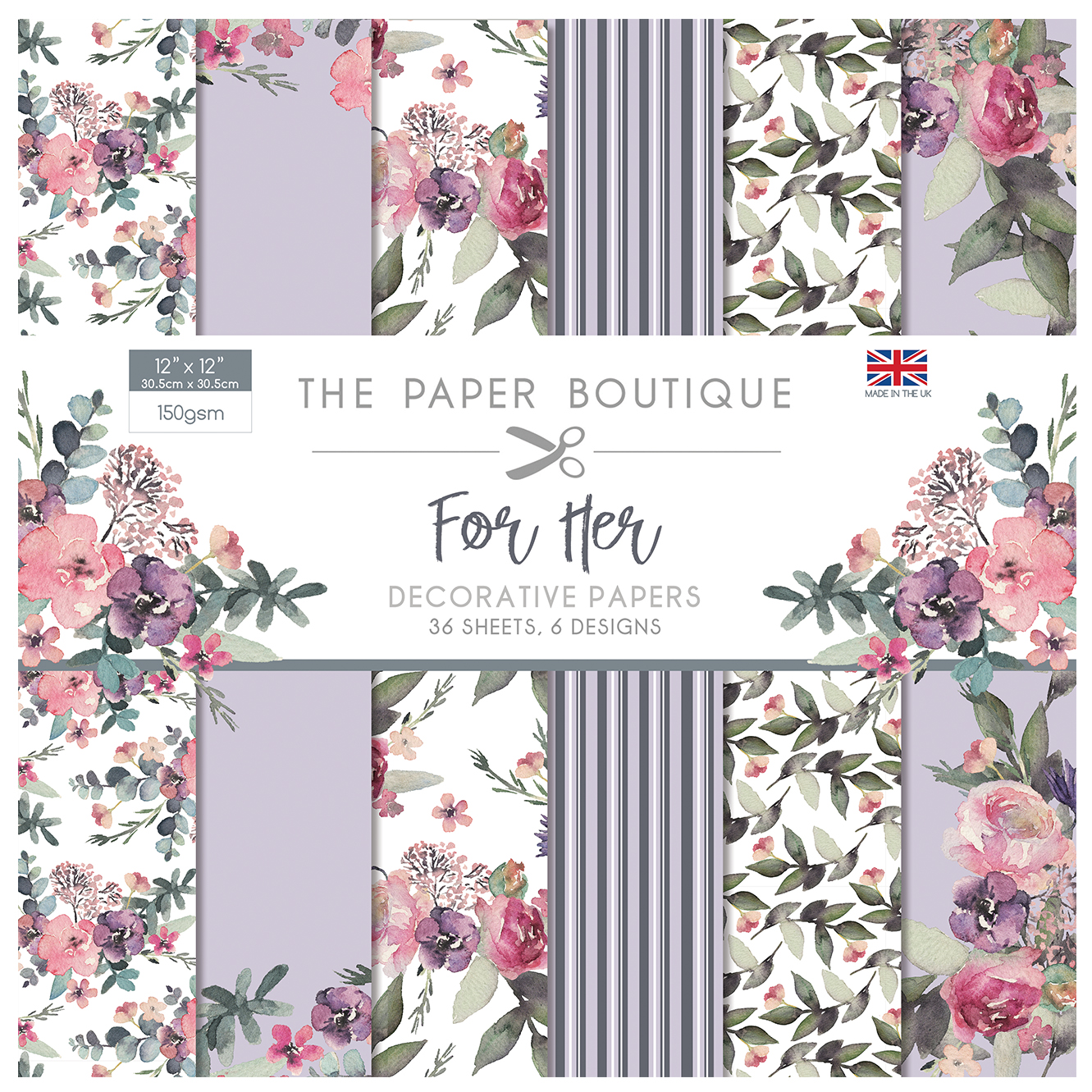 The Paper Boutique For Her 12″ x 12″ Paper Pad