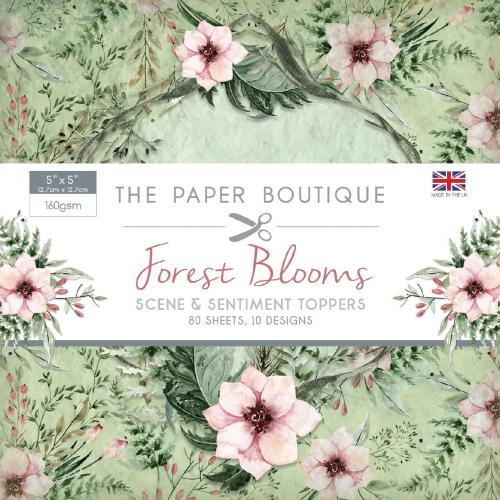 The Paper Boutique Forest Blooms 5″ x 5″ Scene & Sentiment Pad
