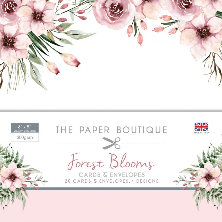 The Paper Boutique Forest Blooms 8″ x 8″ Cards & Envelopes Collection