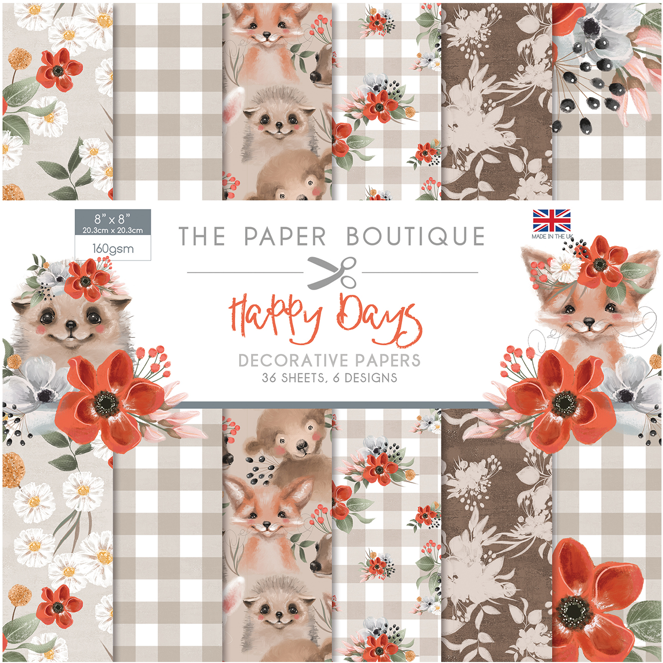 The Paper Boutique Happy Days 8″ x 8″ Paper Pad