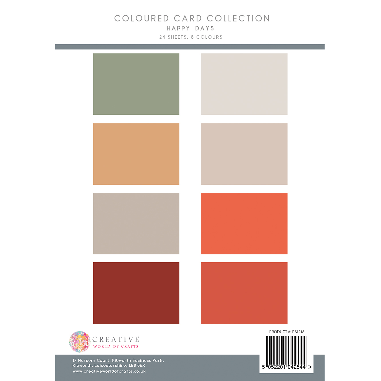 The Paper Boutique Happy Days Coloured Card Collection