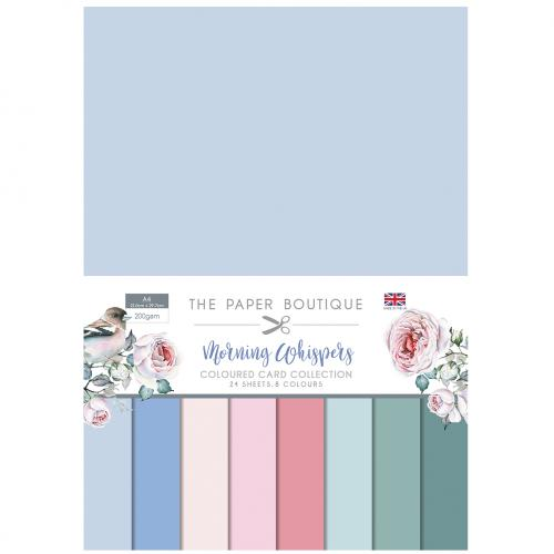 The Paper Boutique Morning Whispers Coloured Card Collection