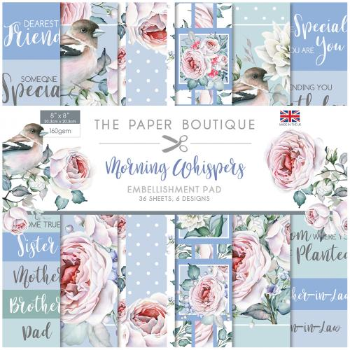 The Paper Boutique Morning Whispers 8″ x 8″ Embellishment Pad