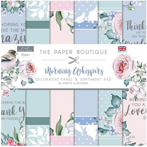 The Paper Boutique Morning Whisper 8″ x 8″ Decorative Panel & Sentiment Pad