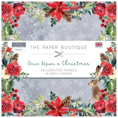 The Paper Boutique Once Upon a Christmas 7″ x 7″ Decorative Panel Pad