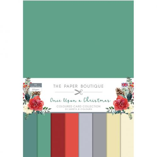 The Paper Boutique Once Upon a Christmas Coloured Card Collection