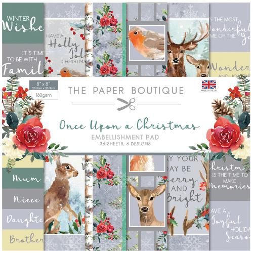 The Paper Boutique Once Upon a Christmas 8″ x 8″ Embellishment Pad
