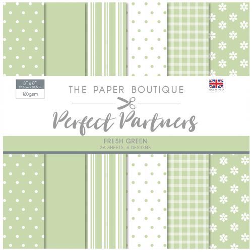 The Paper Boutique Perfect Partners 8″ x 8″ Pad – Fresh Green
