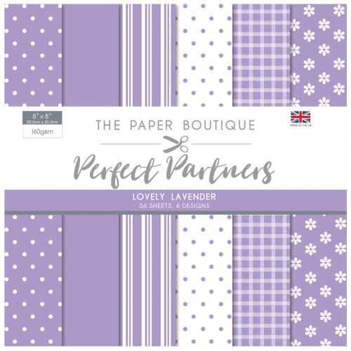 The Paper Boutique Perfect Partners 8″ x 8″ Pad – Lovely Lavender