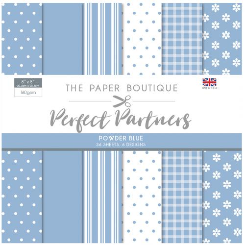 The Paper Boutique Perfect Partners 8″ x 8″ Pad – Powder Blue