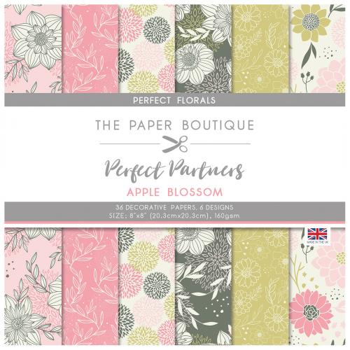 The Paper Boutique Perfect Partners Apple Blossom 8″ x 8″ Pad – Perfect Florals
