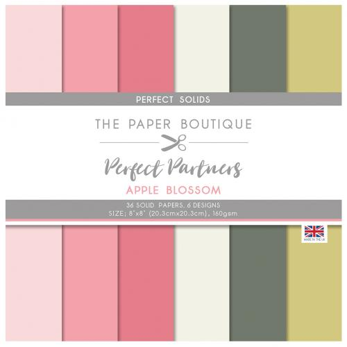 The Paper Boutique Perfect Partners Apple Blossom 8″ x 8″ Pad – Perfect Solids