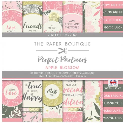 The Paper Boutique Perfect Partners Apple Blossom 8″ x 8″ Pad – Perfect Toppers