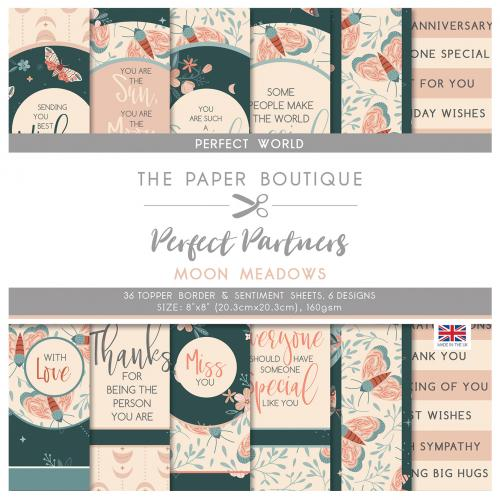 The Paper Boutique Perfect Partners Moon Meadows 8″ x 8″ Pad – Perfect Toppers
