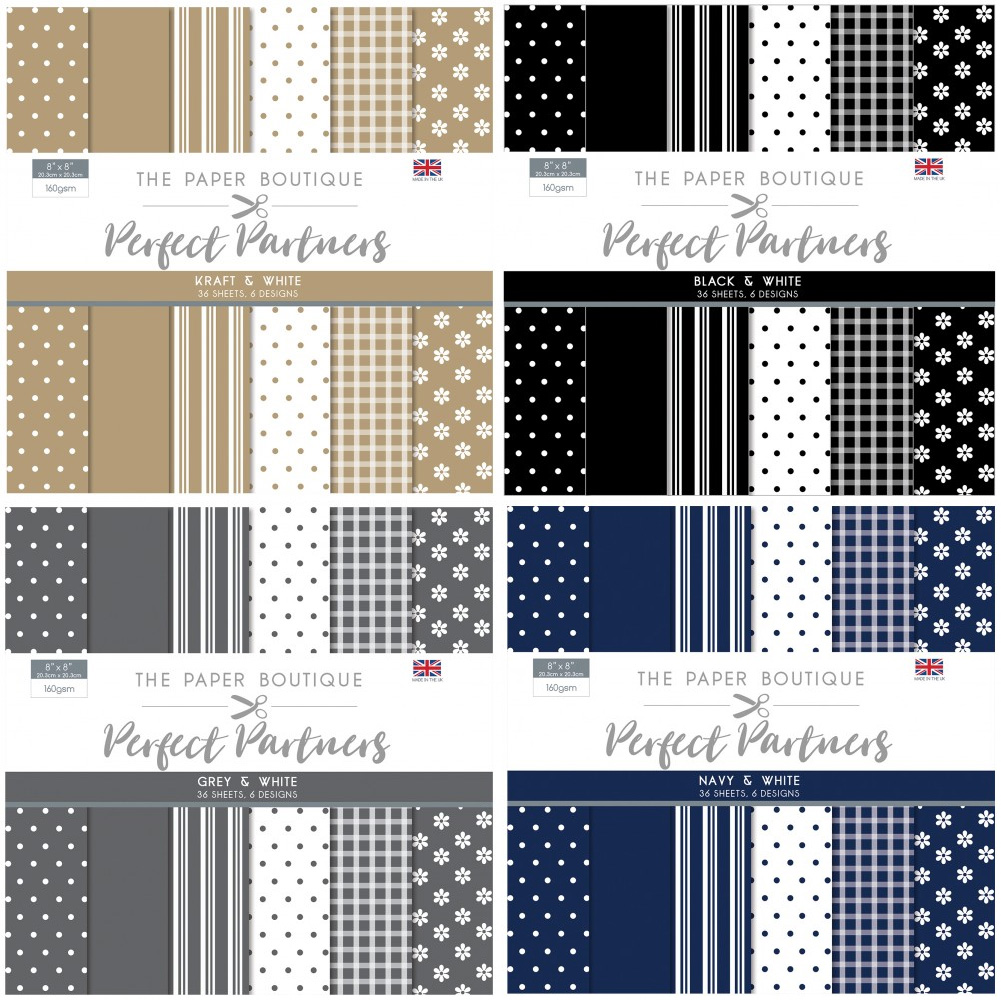 The Paper Boutique Perfect Partners 8″ x 8″ Pad Collection